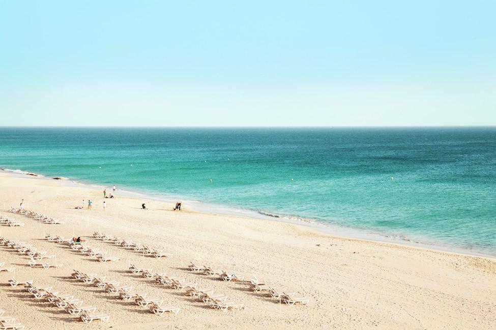 Stranden Sotovento, nära Costa Calma på Fuerteventura